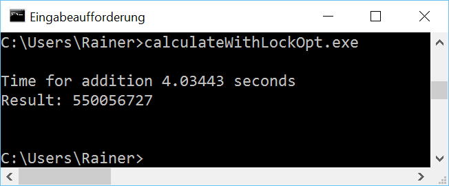 CalculateWithLockOpt win