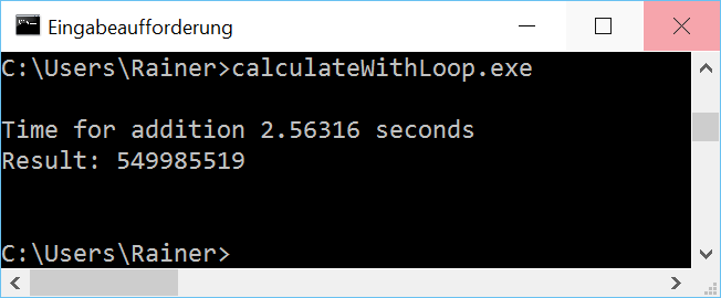 CalculateWithLoop win